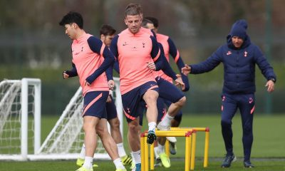 Alderweireld pictured in Tottenham training last week (GETTY Images)