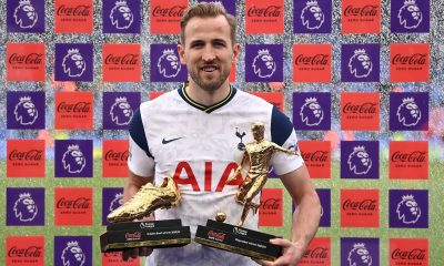 Tottenham Hotspur star, Harry Kane, is a linked with a transfer to Manchester City. (THFC Twitter)