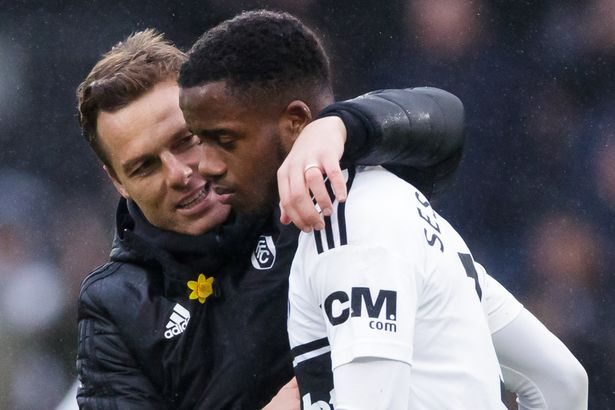 Scott Parker with Ryan Sessegnon at Fulham