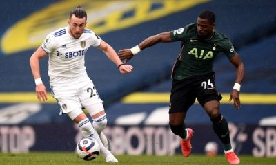 Serge Aurier struggled as Tottenham lost to Leeds United