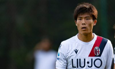Takehiro Tomiyasu could become Tottenham Hotspur's first transfer of the summer (Twitter/BolognaFC)