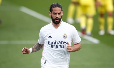 Real Madrid star, Isco, in action.