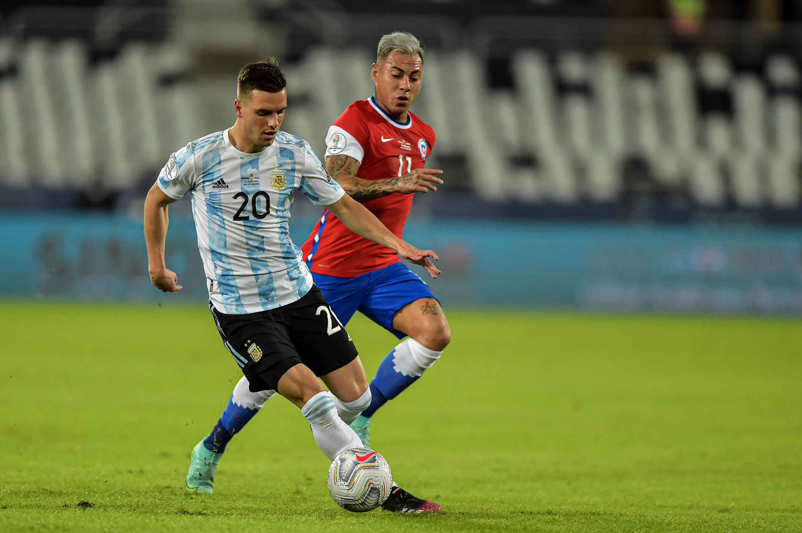 Giovani Lo Celso in action for Argentina.