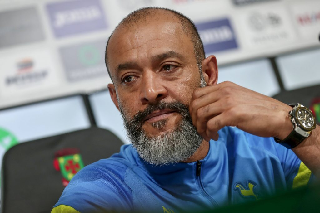 Nuno speaking at the press conference