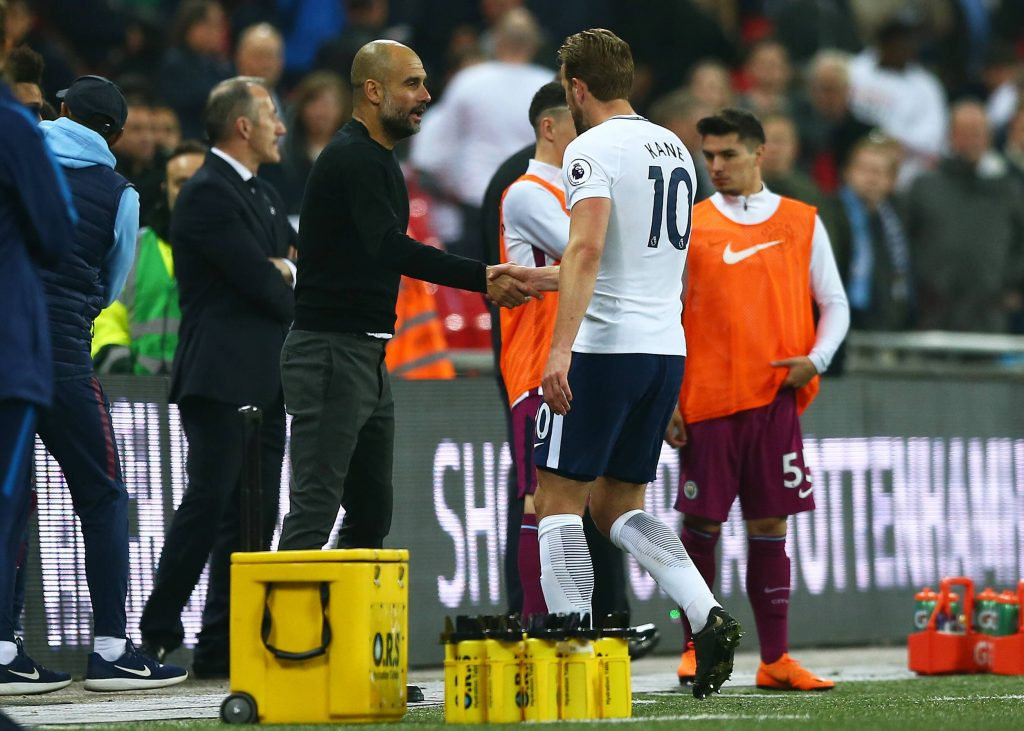 Pep Guardiola is keen on signing Harry Kane at City (imago Images)
