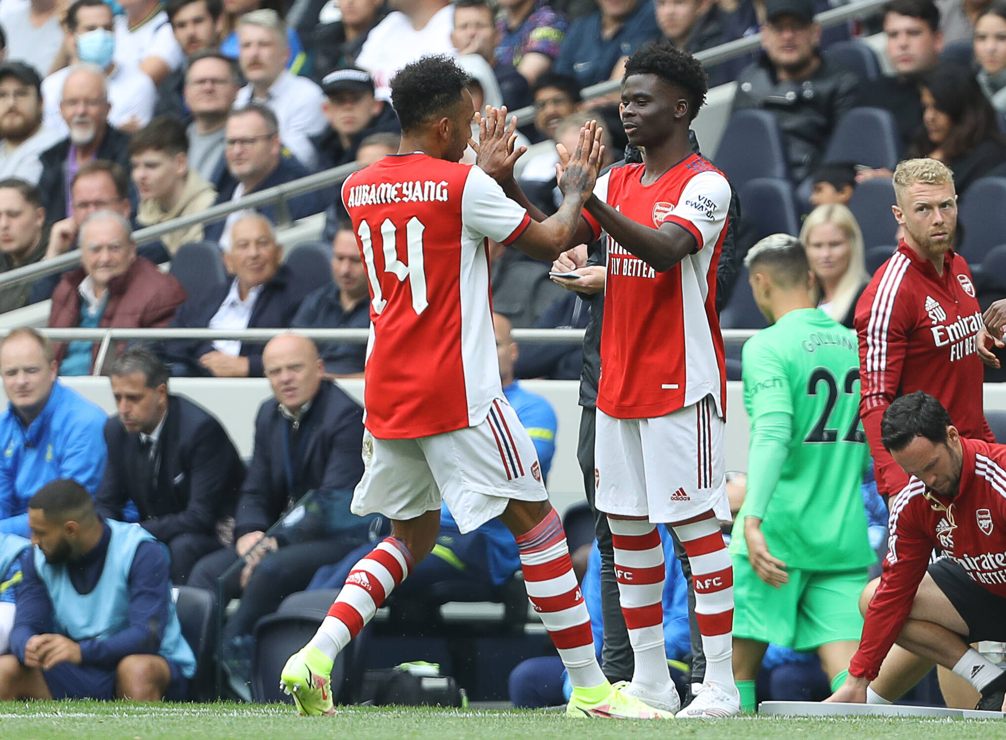 Bukayo Saka received a great reception from Tottenham Hotspur fans as Arsenal lost to Spurs in the Mind Game series pre-season friendly.