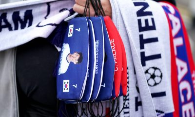 Crystal Palace v Tottenham Hotspur - Premier League - Selhurst Park face masks of Tottenham Hotspur s Son Heung-min for sale before the Premier League match at Selhurst Park, London. Picture date: Saturday September 11, 2021. EDITORIAL USE ONLY No use with unauthorised audio, video, data, fixture lists, club/league logos or live services. Online in-match use limited to 120 images, no video emulation. No use in betting, games or single club/league/player publications. PUBLICATIONxINxGERxSUIxAUTxONLY Copyright: xAdamxDavyx 62335819