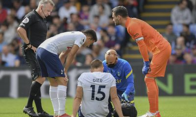 Eric Dier of Tottenham Hotspur on the floor injured during the Premier League match between Crystal Palace and Tottenham Hotspur