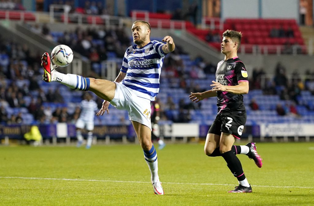 Edwards (R) in action for Peterborough