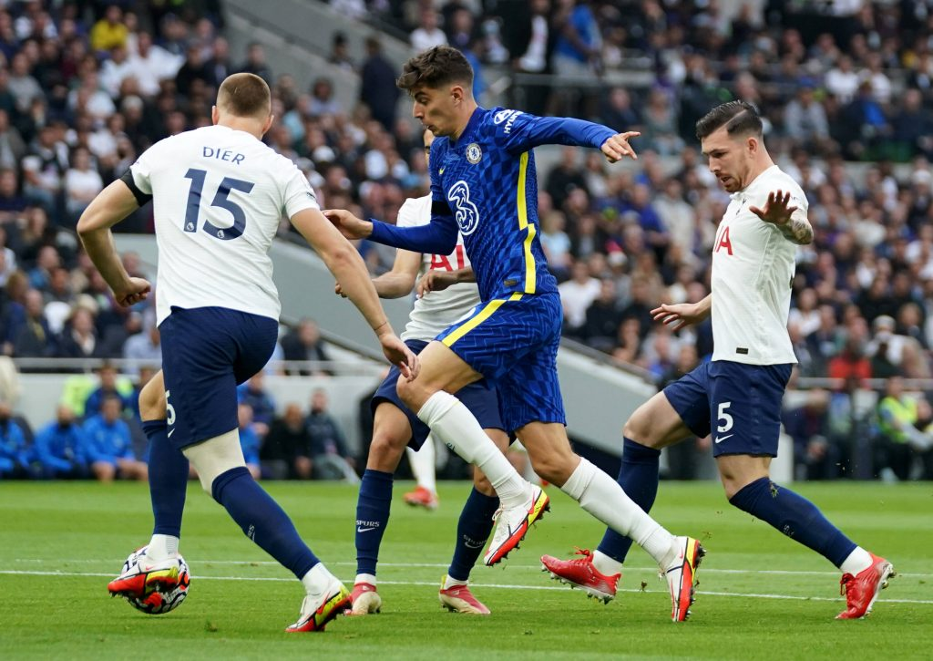 Dier was unlucky as Kante's shot went in off him