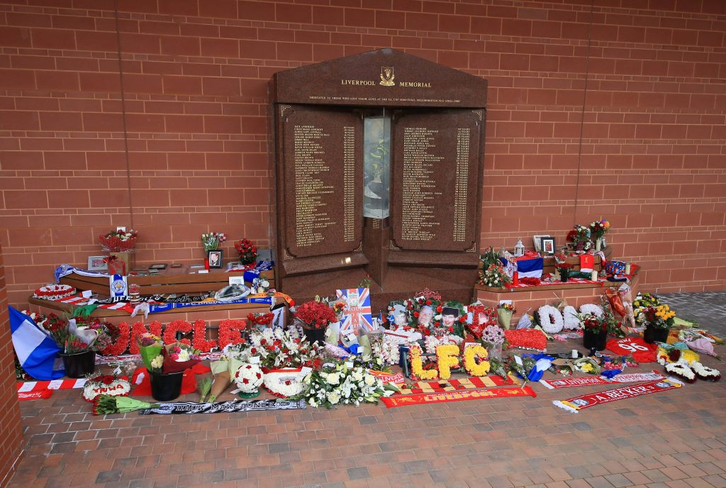 A tribute to the Hillsborough victims