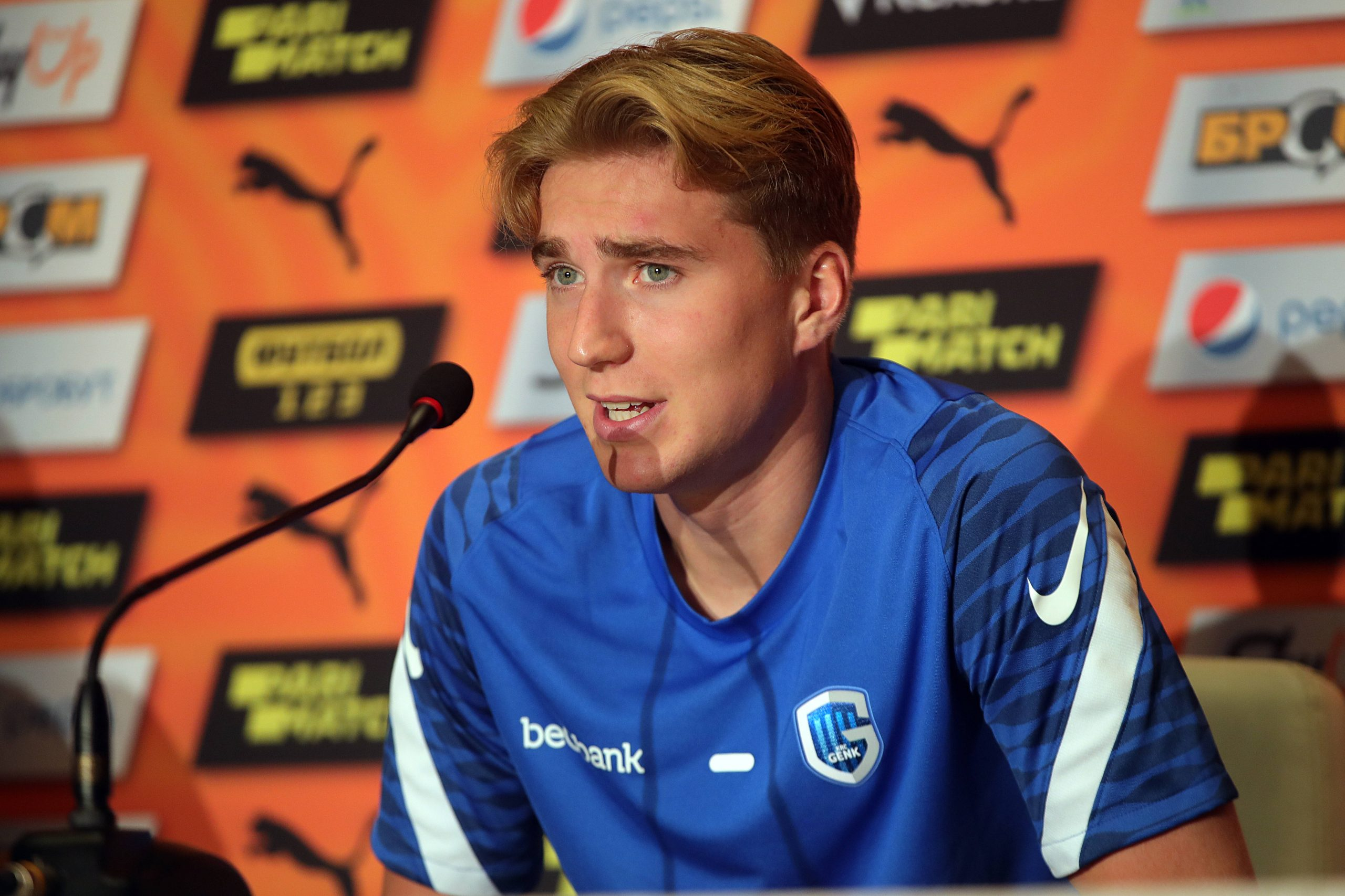Kristian Thorstvedt of Genk is linked with a transfer move to Tottenham Hotspur.